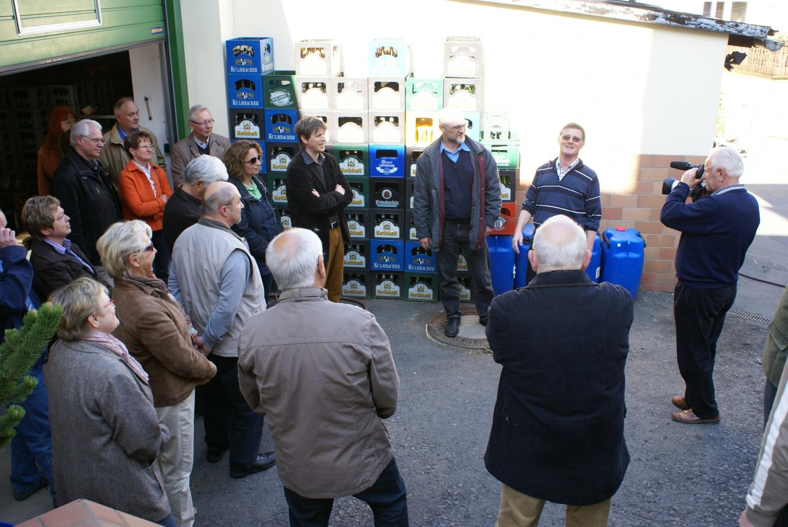 2011: Besichtigung der Brauerei Nothhaft