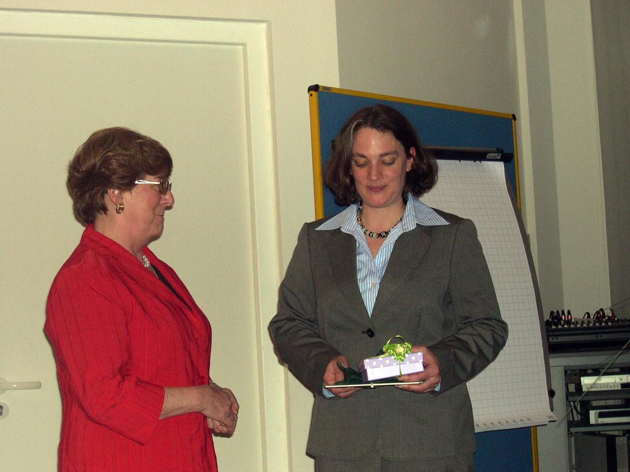2010: Verabschiedung der Geschäftsführerin Renate Bäuml
